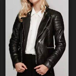 NWT BLK DNM Biker Leather Jacket